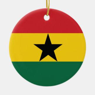 Ghana Plain Flag Christmas Tree Ornaments