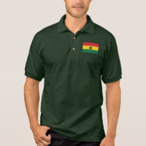 Ghana Plain Flag Polo Shirt