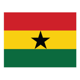 Ghana Plain Flag Postcard