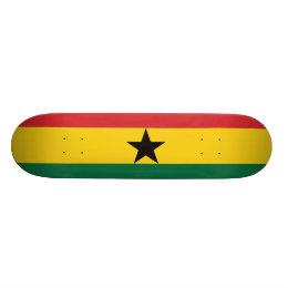Ghana Plain Flag Skateboard