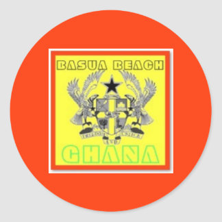 Ghana  Poster(Basua Beach) Round Sticker