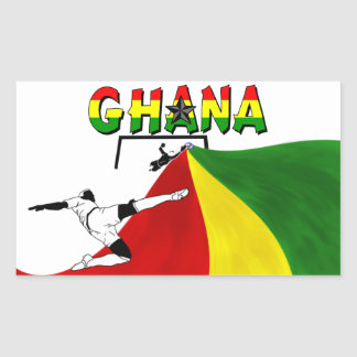 Ghana Rectangular Sticker