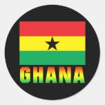 Ghana Round Stickers