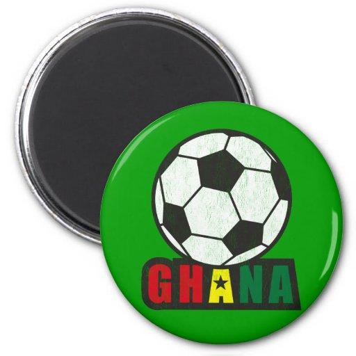 Ghana Soccer 2 Inch Round Magnet