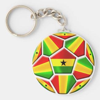 Ghana Soccer Basic Round Button Keychain