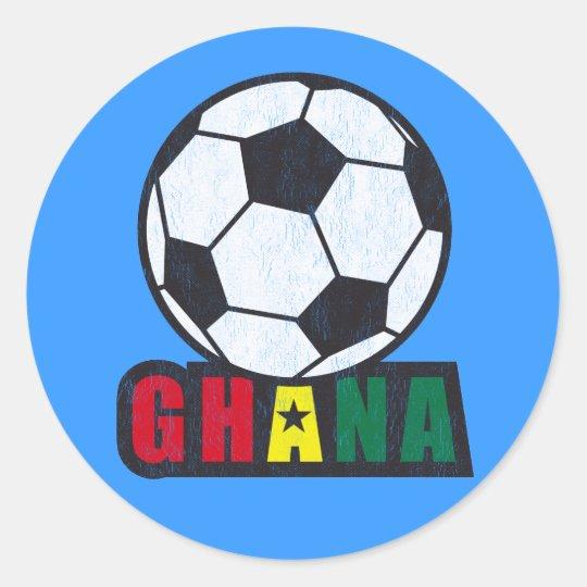 Ghana Soccer Classic Round Sticker