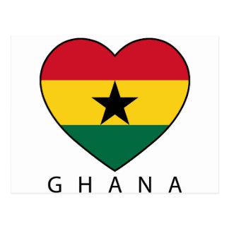 "Ghana Soccer Heart ""GHANA"" - corazón Tarjetas Postales"