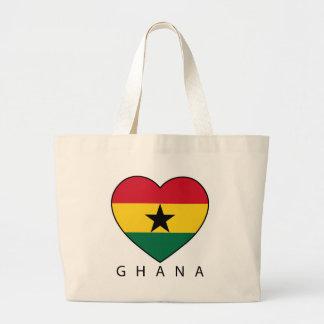 """Ghana Soccer Heart """"GHANA"""" - heart Tote Bag"""