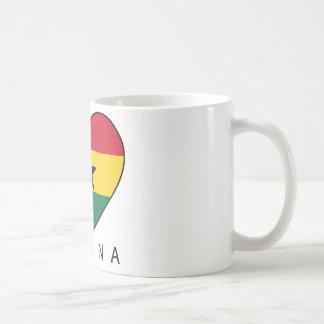 "Ghana Soccer Heart ""GHANA"" - heart Coffee Mugs"