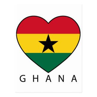 "Ghana Soccer Heart ""GHANA"" - heart Post Card"