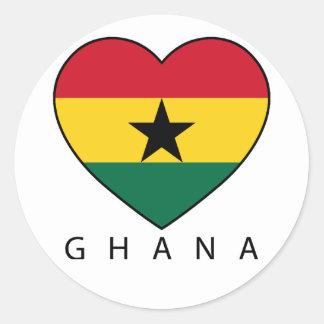 """Ghana Soccer Heart """"GHANA"""" - heart Round Sticker"""