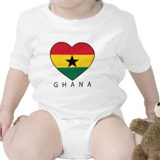 """Ghana Soccer Heart """"GHANA"""" - heart T-shirt"""