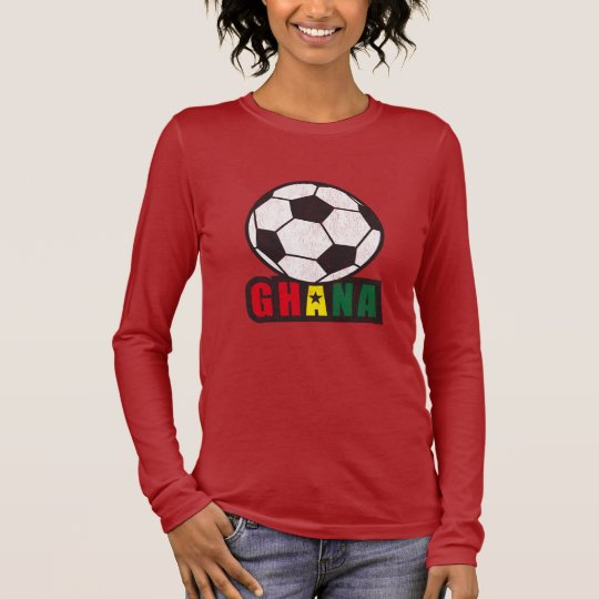 Ghana Soccer Long Sleeve T-Shirt