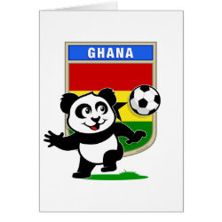 Greeting Card with Ghana Football Panda design
