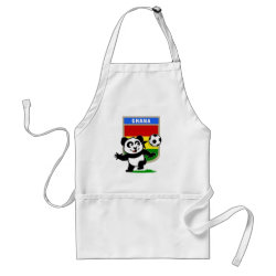 Apron with Ghana Football Panda design