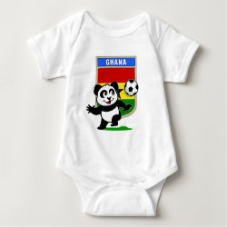 Baby Jersey Bodysuit with Ghana Football Panda design
