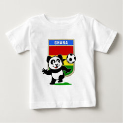 Baby Fine Jersey T-Shirt with Ghana Football Panda design