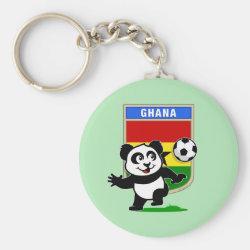 Basic Button Keychain with Ghana Football Panda design