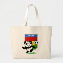 Jumbo Tote Bag with Ghana Football Panda design