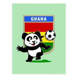 Postcard with Ghana Football Panda design