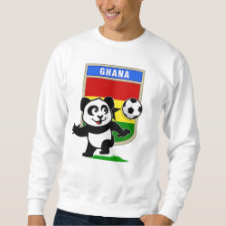 Men's Basic Sweatshirt with Ghana Football Panda design