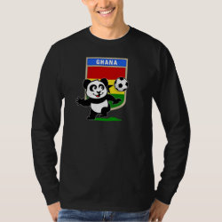 Men's Basic Long Sleeve T-Shirt with Ghana Football Panda design