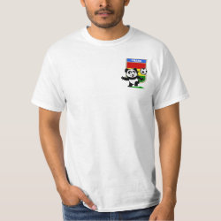 Men's Crew Value T-Shirt with Ghana Football Panda design