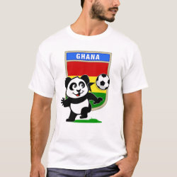 Men's Basic T-Shirt with Ghana Football Panda design
