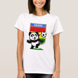 Women's Basic T-Shirt with Ghana Football Panda design