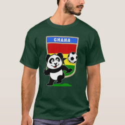 Men's Basic Dark T-Shirt with Ghana Football Panda design