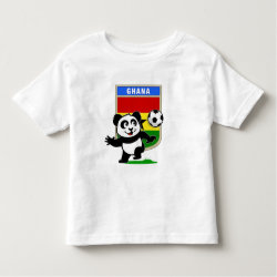 Toddler Fine Jersey T-Shirt with Ghana Football Panda design