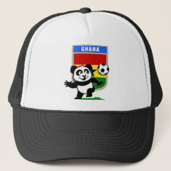 Trucker Hat with Ghana Football Panda design