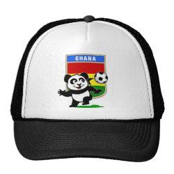 Trucker Hat with Ghana Football Panda design