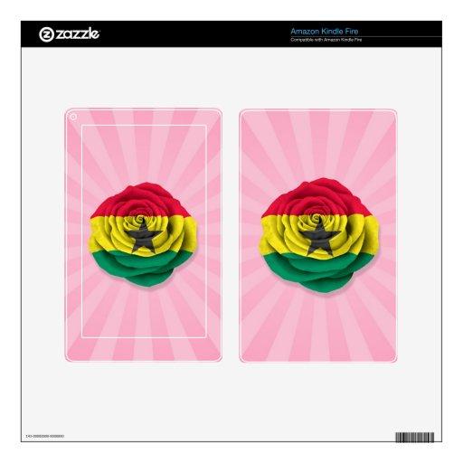 Ghana subió la bandera en rosa kindle fire skins