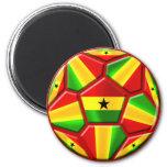 Ghana The Black Stars soccer ball Ghanaian flags 2 Inch Round Magnet