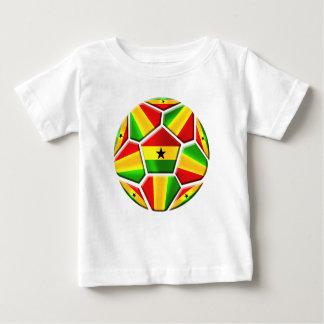Ghana The Black Stars soccer ball Ghanaian flags Baby T-Shirt