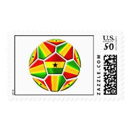 Ghana The Black Stars soccer ball Ghanaian flags Postage