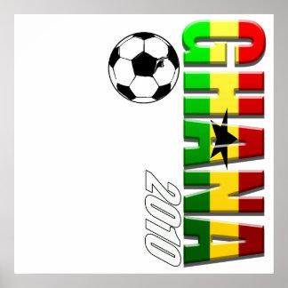Ghana vertical soccer logo flag of Ghana Poster