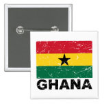 Ghana Vintage Flag 2 Inch Square Button