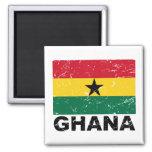 Ghana Vintage Flag 2 Inch Square Magnet