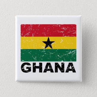 Ghana Vintage Flag Pinback Button