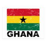 Ghana Vintage Flag Post Card