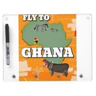 Ghana vintage travel poster dry erase board with keychain holder