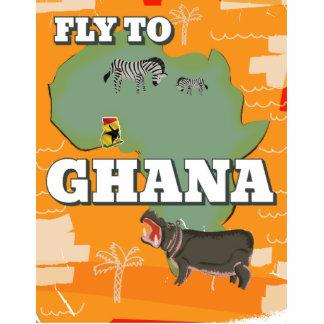 Ghana vintage travel poster statuette