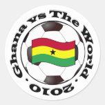 Ghana vs The World Round Sticker