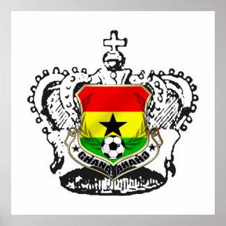 Ghana warrior kings cool Ghana emblem Poster