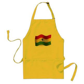 Ghana Waving Flag Adult Apron