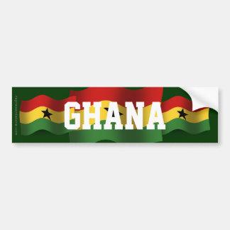 Ghana Waving Flag Bumper Sticker