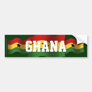 Ghana Waving Flag Car Bumper Sticker