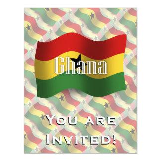Ghana Waving Flag Card